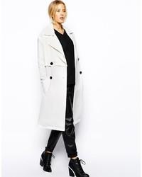 Abrigo blanco de Asos