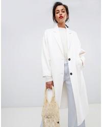 Abrigo blanco de Mango