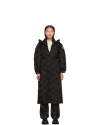Abrigo bordado negro de Moncler Genius