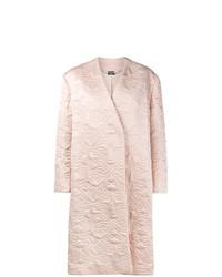 Abrigo bordado rosado de Alexander McQueen