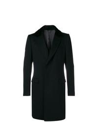 Abrigo con cuello de piel negro de Dolce & Gabbana