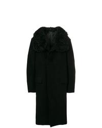Abrigo con cuello de piel negro de Tom Ford