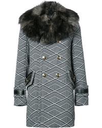 Abrigo con estampado geométrico en gris oscuro de Marc Jacobs