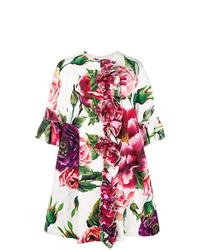 Abrigo con print de flores blanco de Dolce & Gabbana