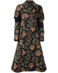 Abrigo con print de flores negro de Comme des Garcons