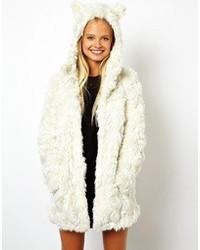Abrigo con relieve blanco de Asos