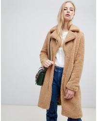 Abrigo con relieve marrón claro de Vero Moda