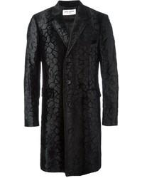 Abrigo con relieve negro de Saint Laurent