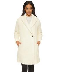 Abrigo de angora blanco de Vince