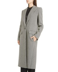 Abrigo de cuadro vichy en blanco y negro