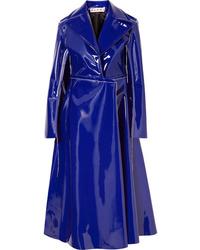 Abrigo de cuero en violeta de Marni