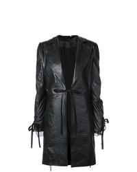 Abrigo de Cuero Negro de Ann Demeulemeester