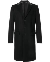 Abrigo de cuero negro de Givenchy