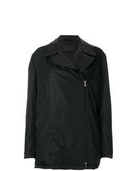 Abrigo de Cuero Negro de Prada Vintage