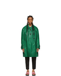 Abrigo de cuero verde de Marni