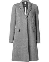 Abrigo de espiguilla gris