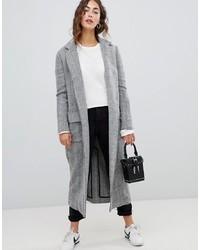 Abrigo de espiguilla gris de Glamorous