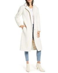 Abrigo de forro polar blanco