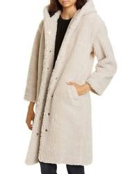 Abrigo de forro polar en beige