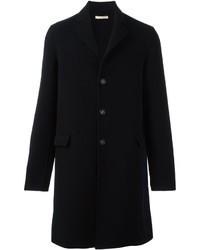 Abrigo de lana azul marino de Massimo Alba