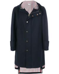 Abrigo de lana azul marino de Thom Browne