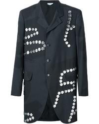 Abrigo de lana con adornos negro de Comme des Garcons