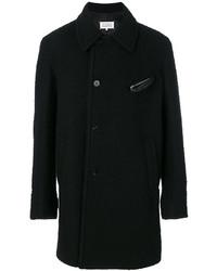 Abrigo de lana con relieve negro de Maison Margiela