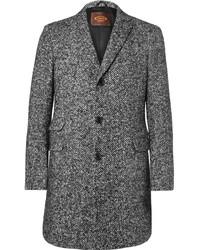 Abrigo de lana de espiguilla en gris oscuro de Tod's