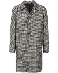 Abrigo de lana de pata de gallo marrón claro de Tagliatore