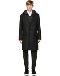 Abrigo de lana en gris oscuro de Neil Barrett