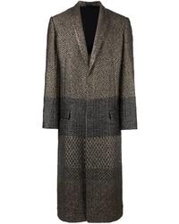 Abrigo de lana en zig zag negro de Haider Ackermann