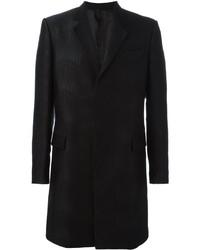 Abrigo de lana en zig zag negro de Les Hommes