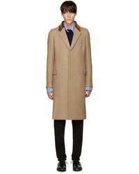 Abrigo de lana marrón claro de Alexander McQueen