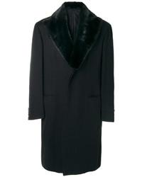 Abrigo de lana negro de Brioni