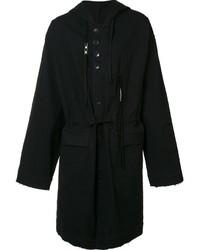 Abrigo de lana negro de Damir Doma