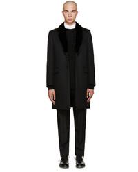 Abrigo de lana negro de Fendi