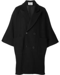Abrigo de lana negro de Henrik Vibskov