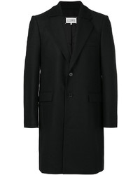 Abrigo de lana negro de Maison Margiela