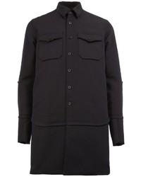 Abrigo de lana negro de Sacai