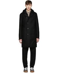 Abrigo de lana negro de Stephan Schneider