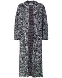 Abrigo de lana rizada en gris oscuro de Sonia Rykiel