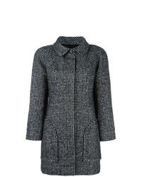 Abrigo de lana rizada en negro y blanco de Chanel Vintage