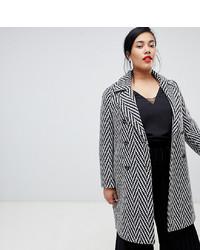 Abrigo de lana rizada gris de Vero Moda Curve