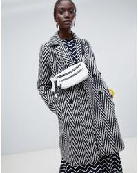 Abrigo de lana rizada gris de Vero Moda
