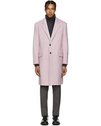 Abrigo de lana rosado de Versace