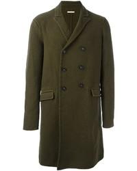 Abrigo de lana verde oliva de Massimo Alba