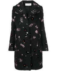 Abrigo de Mohair Negro de Valentino