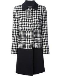 Abrigo de pata de gallo en blanco y negro de Dinou