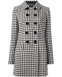 Abrigo de pata de gallo en blanco y negro de Dolce & Gabbana