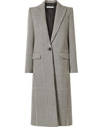 Abrigo de pata de gallo en blanco y negro de Givenchy